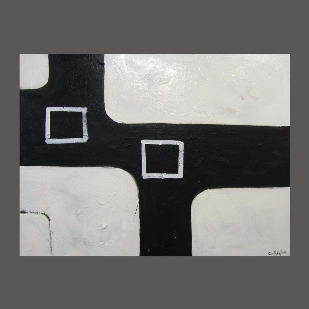 black and white,painting, modern, clean, oil, large , artist, sam roloff, portland, original,art, design,