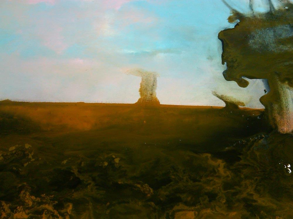 Gulf of Mexico Oil Spill 2010 painting by Sam Roloff
