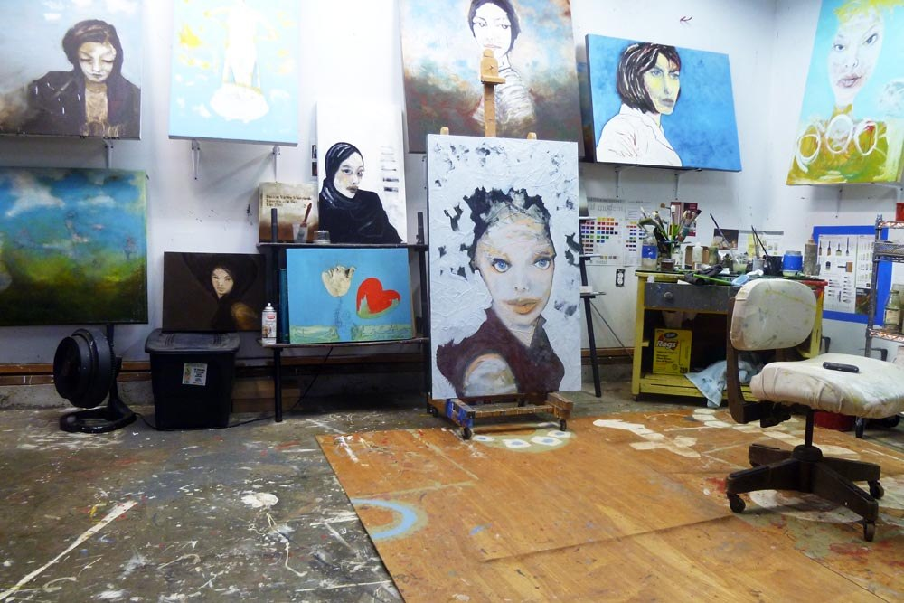 photo of Sam Roloff\'s studio June 2011
