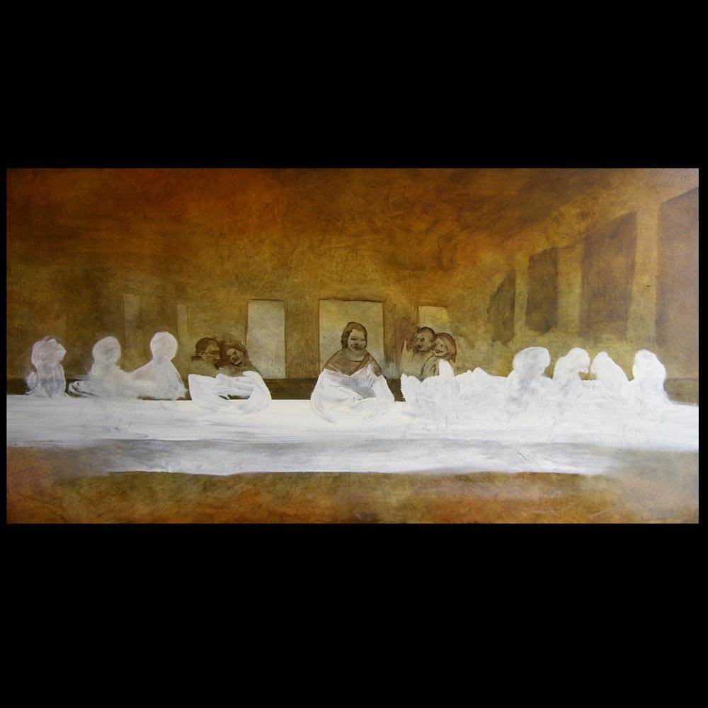 The First Supper painting by Sam Roloff