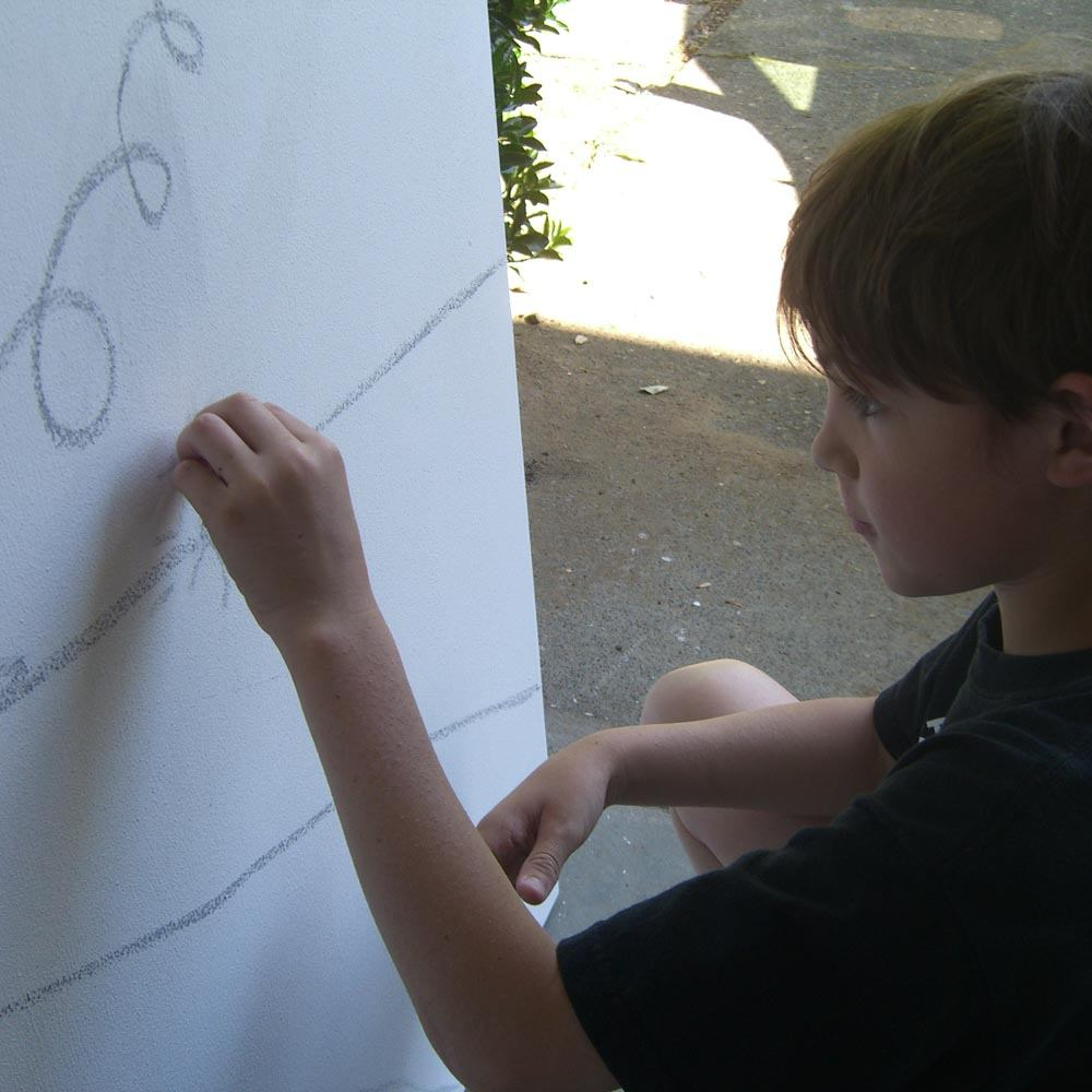 Henry Roloff drawing in the Studio in Portland Oregon USA