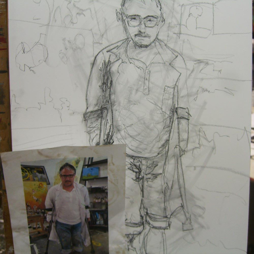 2010 Self Portrait of Artist Sam Roloff