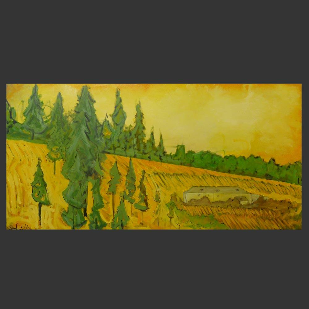 Archery Summit Painting of Vineyard