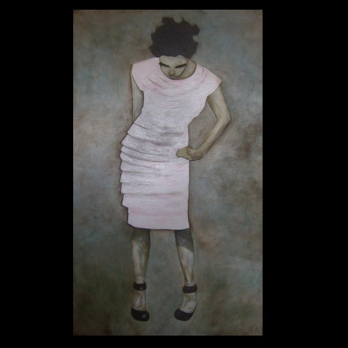 Woman in Pink Dress by Sam Roloff