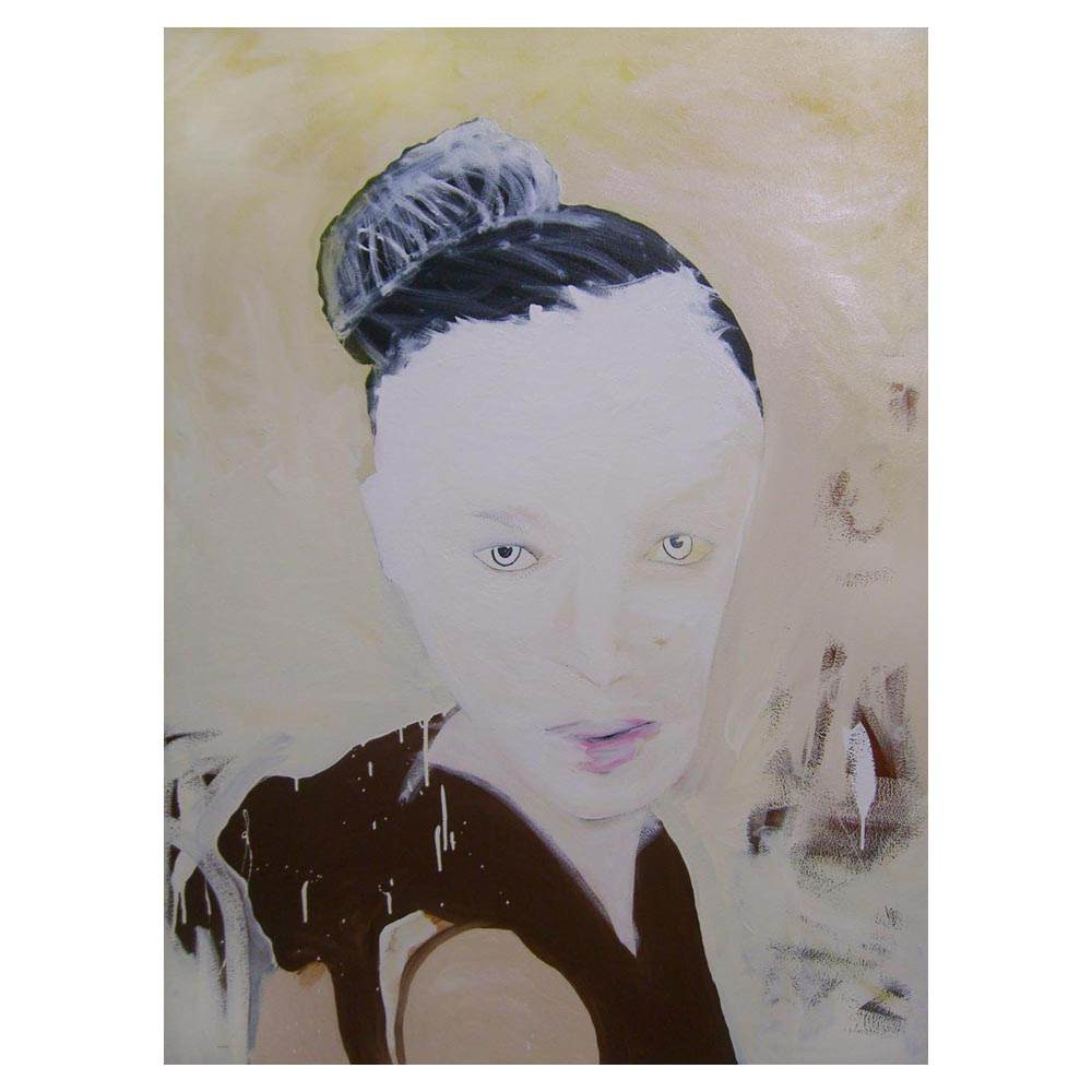 Vogue Woman painting on easel in artist studio Sam Roloff