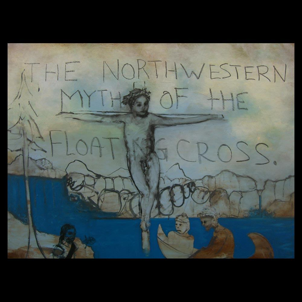 Northwestern Myth of the Floating Cross painting by Sam Roloff