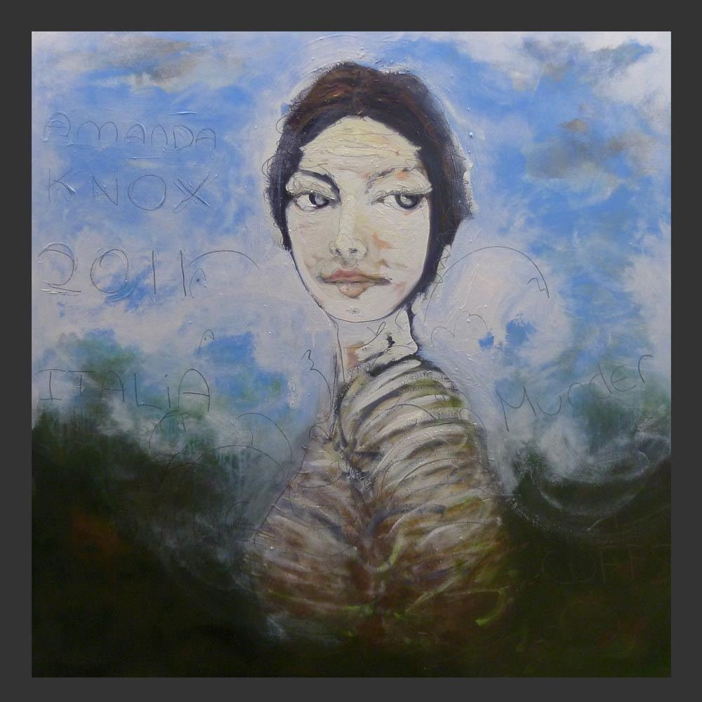 Amanda Knox update to painting of her portrait May 20 2011