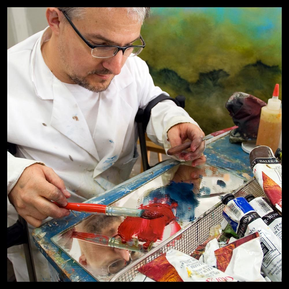 sam roloff painting mixing paints