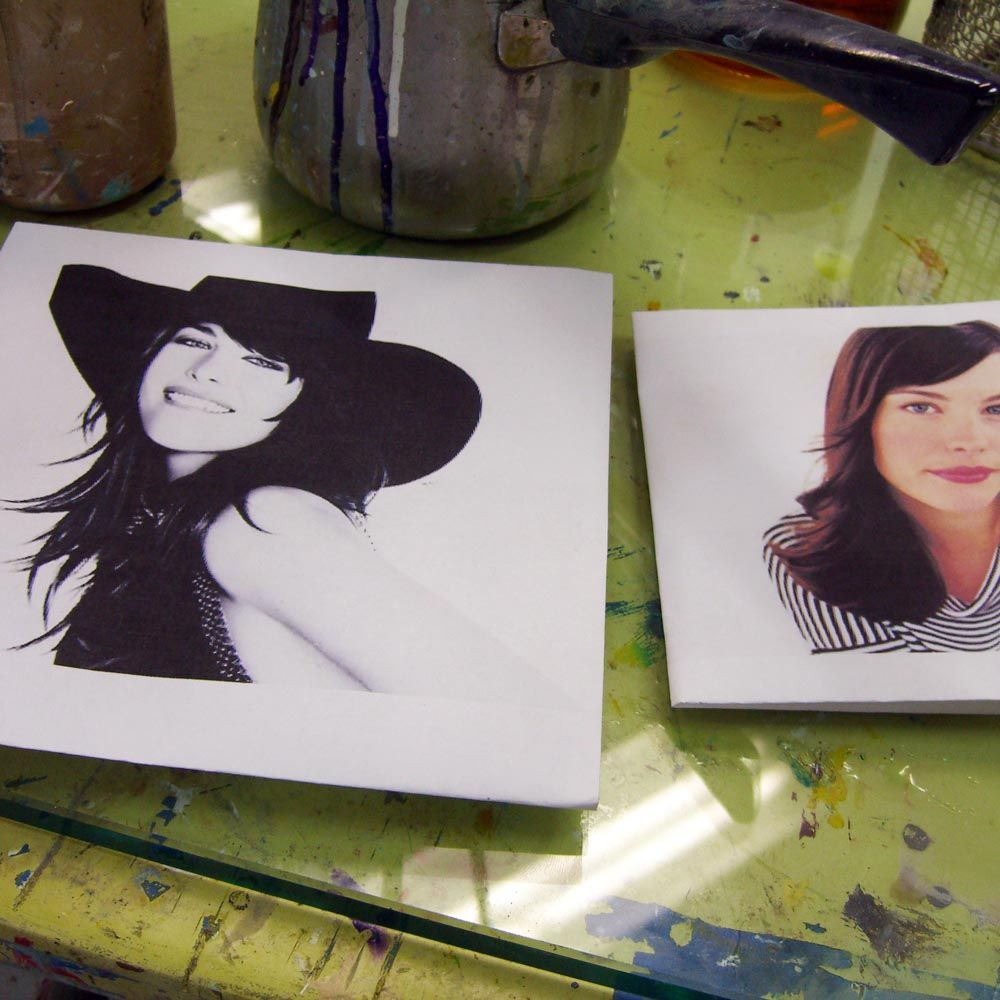 Liv Tyler with Hat photo in Sam Roloff\'s Art Studio