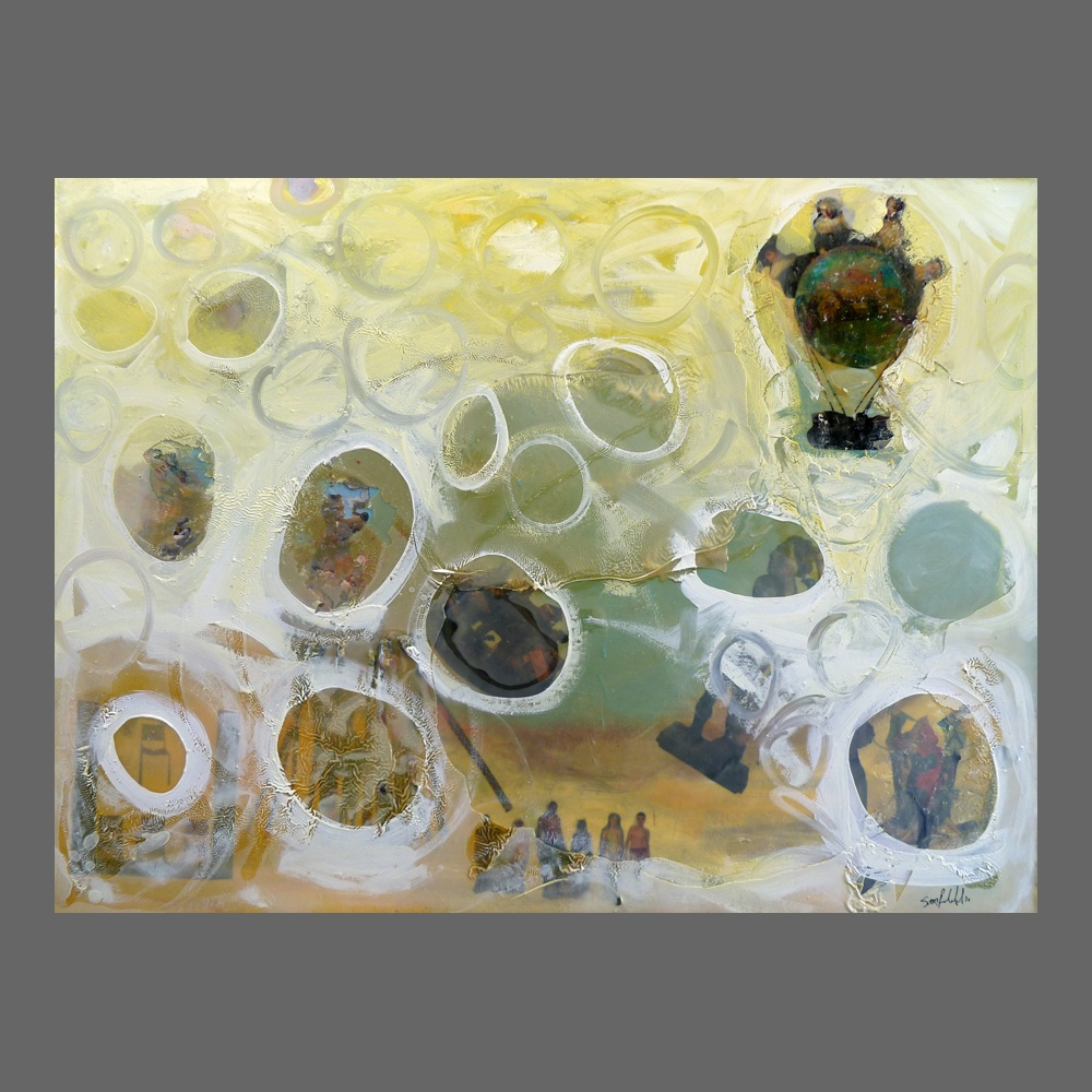 Collage Oil Painting Sam Roloff