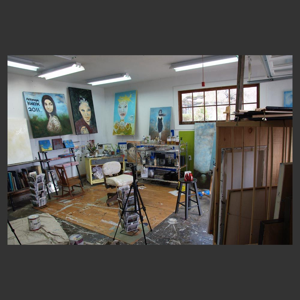 Sam Roloff in Artist Studio on Flotoma in Portland Oregon photos by Jeremy Roloff 2011 April