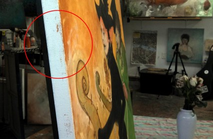 canvas edges, paint, what to do with the edge of a painting?