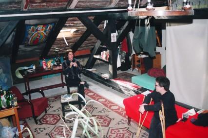 Prague inside loft studio Sam Roloff