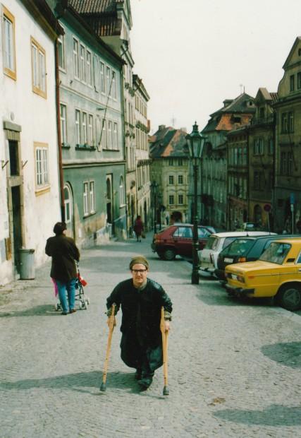 Sam Roloff starting off his artist career in Prague 1993. DWilf