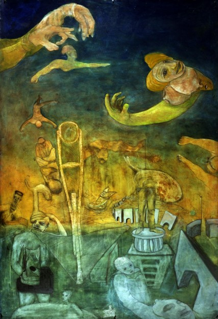 Fear of the Circus | 6 x 4 ft | Oil on Paper | Sam Roloff | 1991