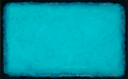 Surf 2014 3193 Oil on Canvas Sam Roloff 30x40 inches Blue series