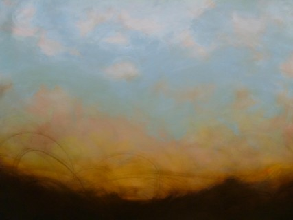 Looking West -3169- Artist Sam Roloff Oil on Canvas