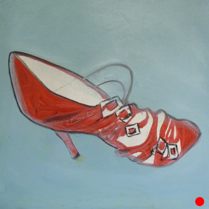Sabin's Shoe 3140 Oil on Canvas 10x10 inches Sam Roloff