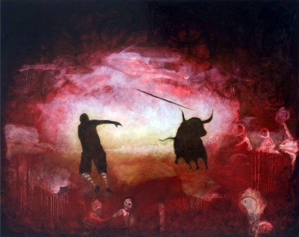 The Last Matador aka The Last Bull Fighter | Oil on Canvas | 60x48 inches | Sam Roloff 3215
