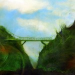 Small Mossy Bridge 3008 Oil on canvas Sam Roloff 2010