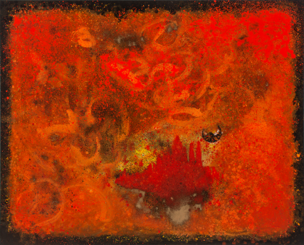 Fuyugaki Persimmon 3242 Oil on Canvas Sam Roloff 60x40 inch 2012 Portland Artist