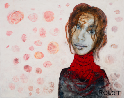 Savannah Nolan 3247 Portrait by Sam Roloff Portland Artist 60x40 inches Oil on Canvas