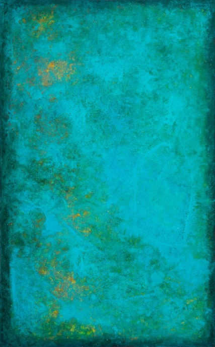 Cad 3195 Blue Green Abstract oil painting by Sam Roloff