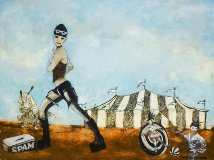 3297 BlackRock Spam Burningman Oil Paintings