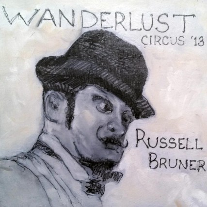 Russell Bruner of Wanderlust Circus 2013 | Sam Roloff | 8x8 inches Graphite on Panel