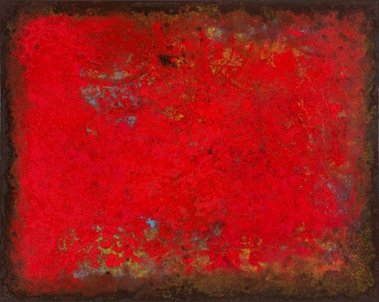 DWilf - red abstract oil painting by Sam Roloff Portland Oregon 2013 id# 3266 large red abstract paintings