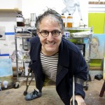 Sam Roloff in artist Studio Nov 2013