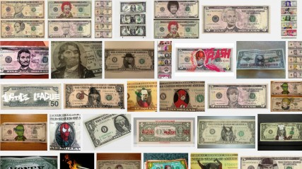 Examples of Defaced Money US Bills as found on Google 2013