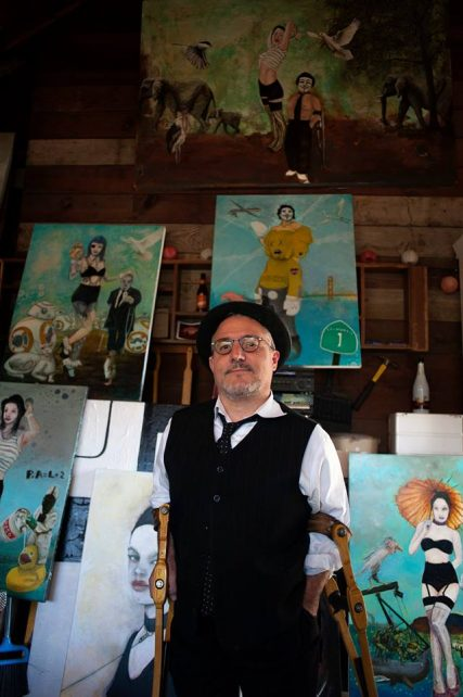 Sam Roloff in Flotoma Studio at Orchid Pl Portland Oregon 2017
