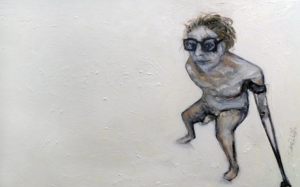Self Portrait of Artist  |  30 x 48 in  |  Oil on Canvas  | Sam Roloff  | 2012