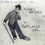 Russell Bruner Dancing Wanderlust circus 2013 Portland oregon oil painting by Sam Roloff