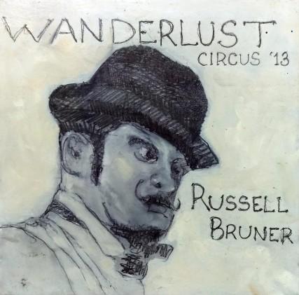 Russell Bruner Sam Roloff painting of wanderlust dancer Portland Oregon