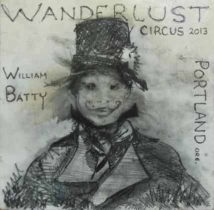 william batty noah mickens oil painting of wanderlust circus portland oregon sam roloff