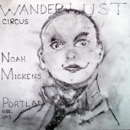 Noah Mickens wanderlust circus portland oregon painting by Sam Roloff