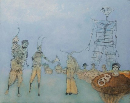 Dreams of Burningman oil painting