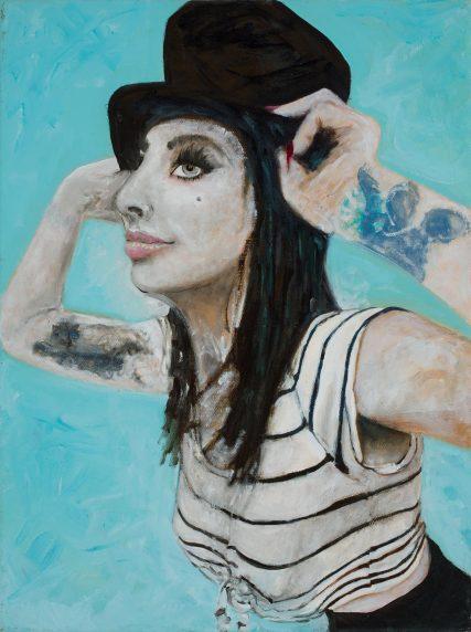 Maree Ayers a portrait oil on canvas Sam Roloff Portland artist 3349