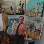 Shawn Webber and Sam Roloff inside Webber's Studio in San Francisco artist