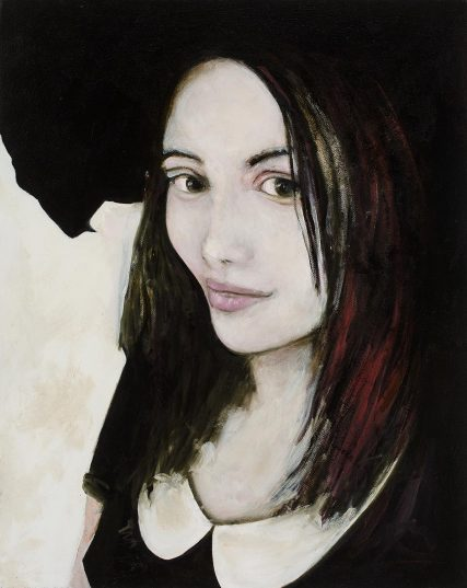 Jessica Chicharro Oil on Canvas   16x20 inch   Sam Roloff 2017 portrait woman