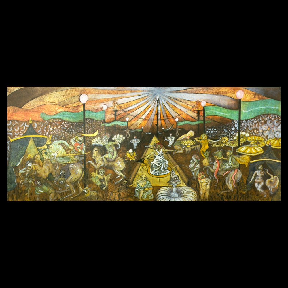"""Painting \""""Under the Circus Tent\"""" by Sam Roloff - SOLD"""