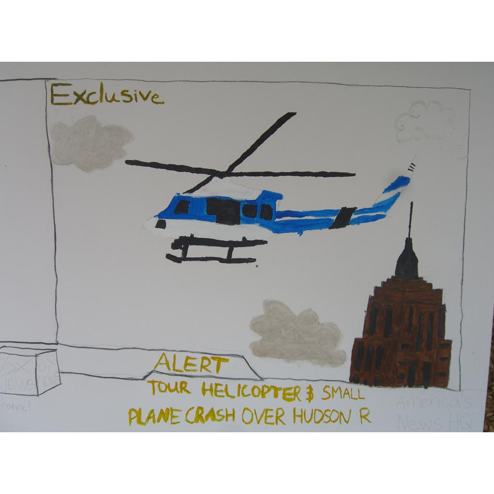 Hudson helicopter and empire state building