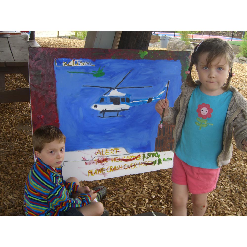 Amelia and Neil Anderson painting the backstory of Hudson