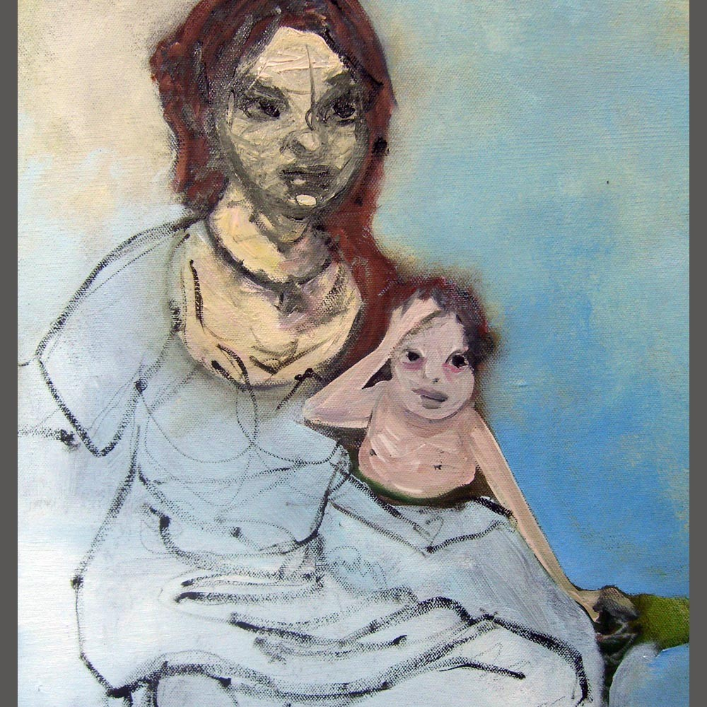 Maddona and Child detail of Patti Smith Painting