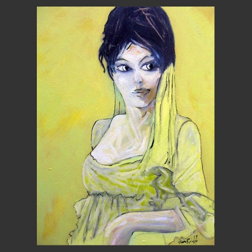 Portrait of the Spanish Woman - a painting by Sam Roloff